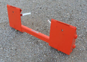 Model 832915 Adapter Plate for Kubota LA852 tractor loader, attach skid steer attachments to the front side of the plate.