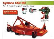 Model C50-RD5H 60 inch (5 ft.) wide cutting deck with hard tires 10 inches x 3.2 inches wide
