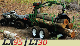 WLLX95PW-WLL301-WLLT30 Log Trailer W/Grapple Winch Off-Road Trlr