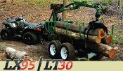 WLLX95-WLL101-WLLT30 Logging Trailer With Grapple Tractors/ATVs