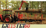 WLLX115-WLLT60-WLL101 Logging Trailer W/Grapple 10,000 LBS. load capacity