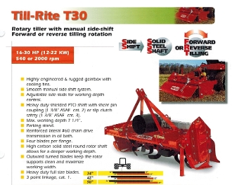 T30-550 Befco Till-Rite Roto-Tiller 2000 RPM 50 Inches Wide