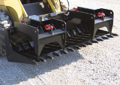 WOLPTG Skid Steer Low Profile Tine Grapple 72 78 84 Inches