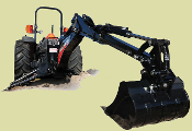 GX920XT Wallenstein Extended Reach Backhoe