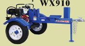 WX910 Wallenstein Logsplitter Trailered Horizontal Engine Power
