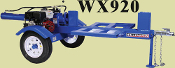 WX920 Wallenstein Logsplitter Trailered Horizontal Type