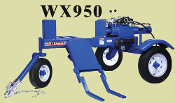 WX950 Wallenstein Tow Behind Engine Powered Log Splitter