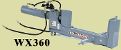 WX360 Three Point Mount Log Splitter Vertical Model 5 X 24