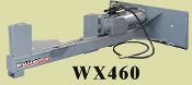 WX460 Skid Steer Mount Log Splitter Horizontal 5 Inch X 24 Inch