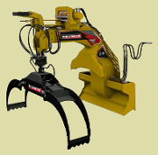 LXG430RB Skid Steer Mount Log Grapple Professional Series 72 In