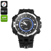 W018 Outdoor Watch With Built-In Camera 720P HD Video