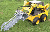 TN548-8R Skid Steer Mount Hydraulic Trencher 8 x 48 Rock Chain