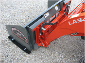 SPS-2048M Skid Mount Pusher Plow 4 ft. Wide Metal Cutting Edge