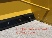 358220 Replacement 5 ft. Rubber Cutting Edge 20 Series Snow Plow