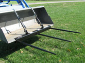 CBSF-3028 Clamp On Bucket Bale Spears 55 Inches Total Width