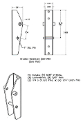 Massey Ferguson831800 Interfacing Brackets MF 1525 Loader