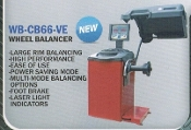 WB-CB66-VE Wheel Balancer Large Rim Auto Rims