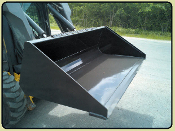33013 Legends Low Profile Skid Steer Mount Dirt Bucket 72 Inches