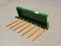 WOM/S-72JD Manure Silage Fork 72 Inches Wide For JD 400/500