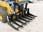Model ETG-5 Low Profile Skid Steer Loader Mounted Brush Grapple Rake