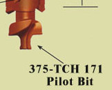 375-TCH-171 Pilot Point For Pengo Rock GP Spiral Auger Bit