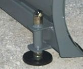 Part No. 34671 replacement skid shoe (2 required) for WOSB snow blades, 6 inches in diameter x 1/2 inch thick, height adjustable.